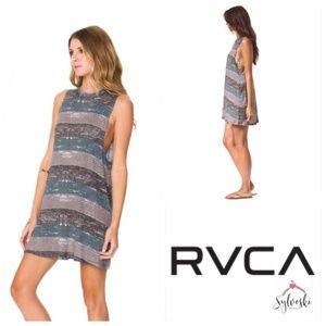 RVCA Daytripper Sleeveless Knit Stripe Dress